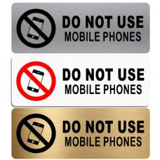 Do  Not Use Mobile Phones-WITH IMAGE-Aluminium Metal Sign-Door,Notice,School,Office,Electronics